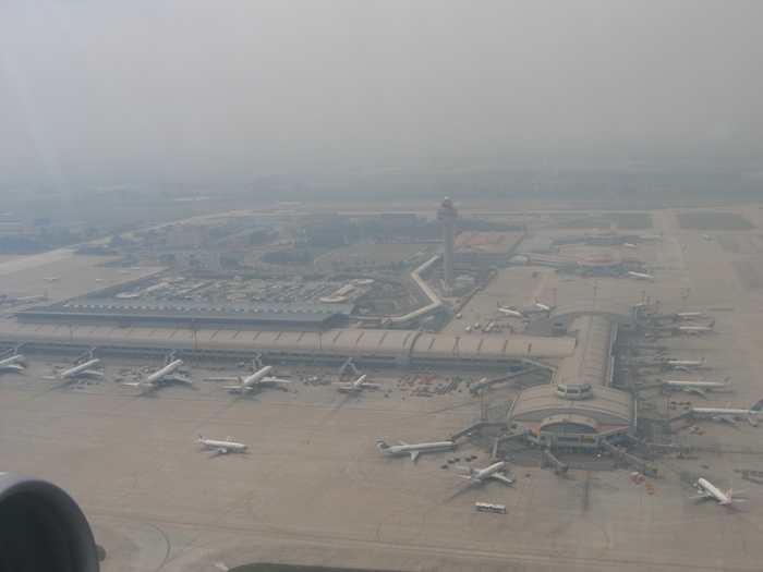 Air Pollution China - Beijing Airport - looking east