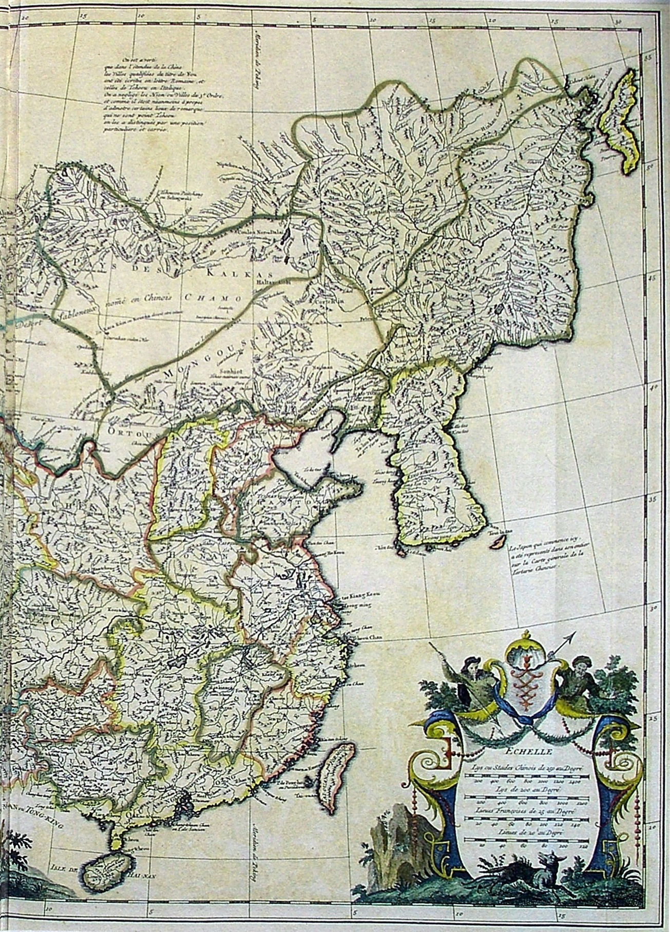 Right half of D'Anville 1734 d'Asie la_Chine la Tartarie Chinoise et le Thibet