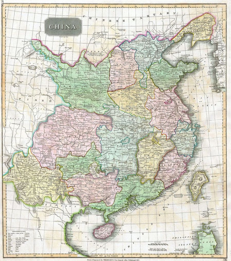 Photo of the ca. 1814 map titled China by John Thomson of Edinburgh