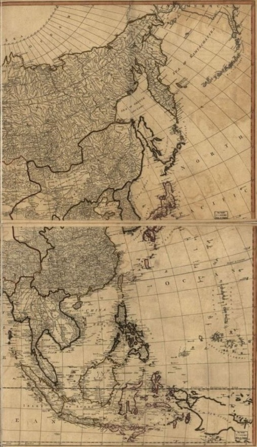 Map of Asia, Pinkerton 1818 (Library of Congress)