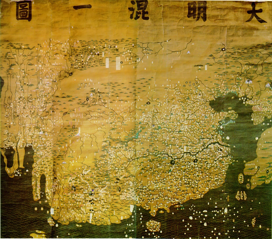 The ca. 1389, Da Ming Hun Yi Tu 大明混一圖 (Illustrated Copulation of the Great Ming)(Zhou, 2013)