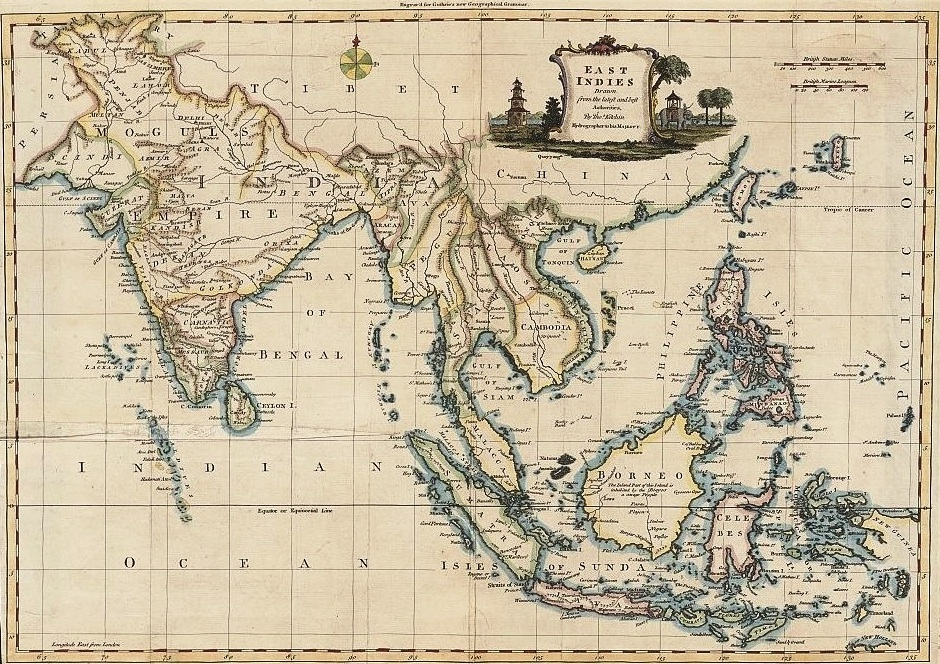 Photo of the East Indies by Thomas Kitchen, produced in 1770 (National Library of Australia)