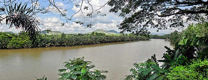 Photo of Kra River and possible route taken by Admiral Zheng He's expedition as they cross the Kra Isthmus on the Malay Peninsula