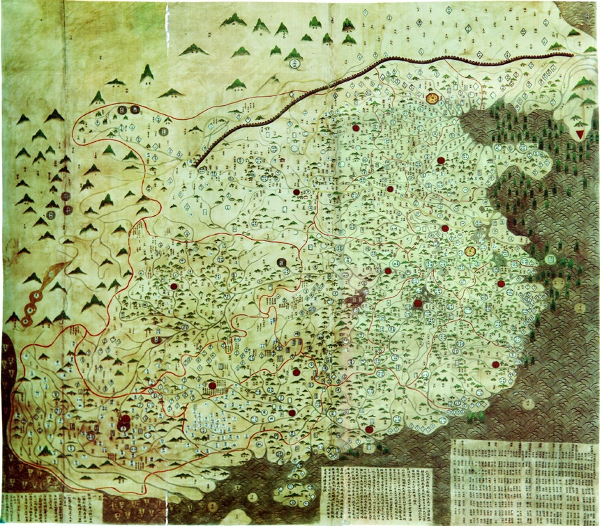 Map of the Ming Chao, ca. (Hong Kong Univeristy, GEO1150}