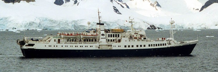 Caledonian Star, Paradise Bay, Antarctica Feb 2001, (currently renamed M.S. National Geographic Endeavour)