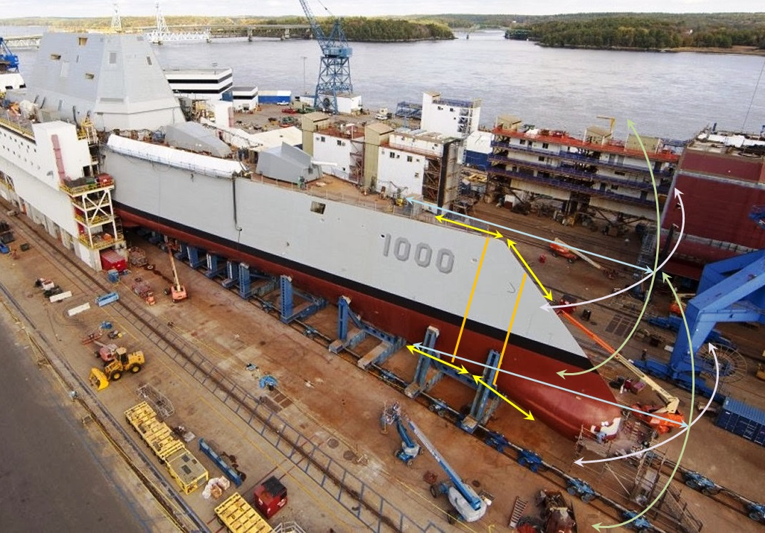 Possible location and impetuous of DDG 1000 Zumwalt class material fatigue, and forward hull integrity concerns during very high sea states