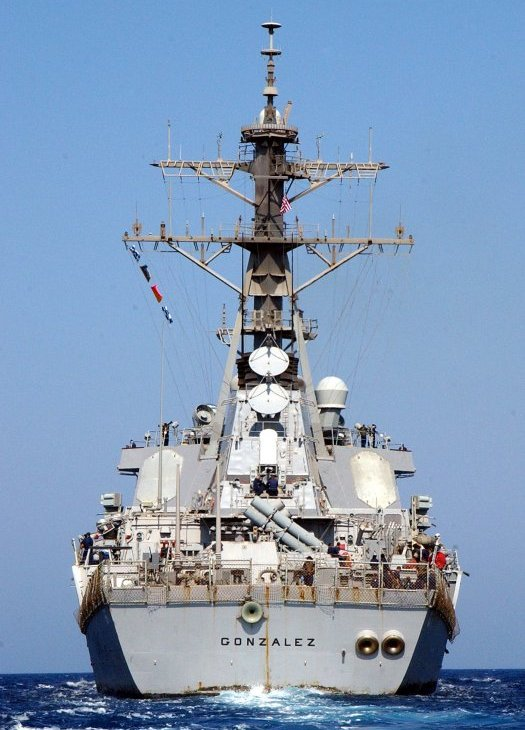 Stern view of DDG 66 USS Gonzalez